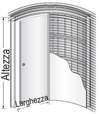 Preventivo controtelaio curvo per porte scorrevoli parete - Controtelaio per porta scorrevole prezzo ...