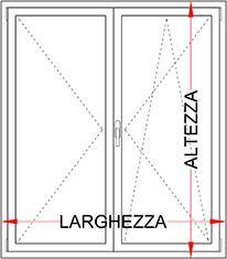 Finestra pvc alluminio minimale 2 ante bologna for Finestra pvc 2 ante