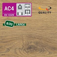 PREVENTIVO Pavimento Laminato Largo BOURBON ROVERE NATURALE (listello 1291 x 246 x sp. 8 mm.)
