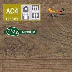 PREVENTIVO Pavimento Laminato Medium NOCE HUDSON (listello 1291 x 135 x sp. 11 mm.)
