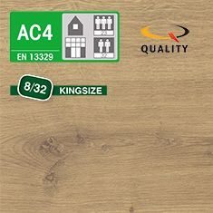 PREVENTIVO Pavimento Laminato Kingsize ROVERE ARLINGTON (listello 1291 x 327 x sp. 8 mm.)