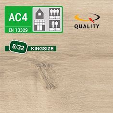 PREVENTIVO Pavimento Laminato Largo ROVERE ARLINGTON CREMA (listello 1291 x 327 x sp. 8 mm.)