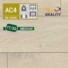 PREVENTIVO Pavimento Laminato Medium ROVERE GESSO (listello 1291 x 135 x sp. 11 mm.)