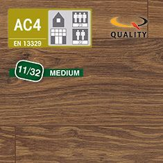PREVENTIVO Pavimento Laminato Medium ROVERE ZERMATT MOCCA (listello 1291 x 135 x sp. 11 mm.)
