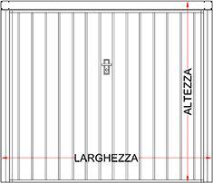 Preventivo porta basculante a doghe larghe verticali linea - Dimensioni garage doppio ...