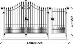 Dimensioni Cancello A Due Ante.Preventivo Cancello Carrabile E Pedonale In Ferro Battuto Apribile