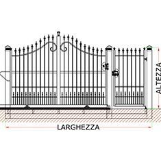 Misure Standard Cancello A Due Ante.Preventivo Cancello Monoblocco Carrabile Scorrevole E Pedonale