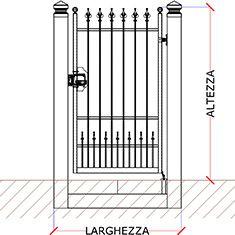 Misure Standard Cancello A Due Ante.Preventivo Cancello Pedonale Monoblocco In Ferro Battuto Apribile