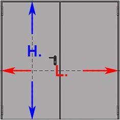 Porta Tagliafuoco Rei 120 2 Ante Con Misure Standard