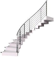 Scala elicoidale con gradini in legno a sbalzo bologna for Gradini in legno massello prezzo