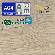 PREVENTIVO Pavimento Laminato ROVERE VALLEY FUMATO (listello 1291 x 193 x sp. 8 mm.)