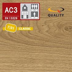 PREVENTIVO Pavimento Laminato ROVERE NORTHLAND MIELE ENDLESS (listello 1292 x 192 x sp. 7 mm.)