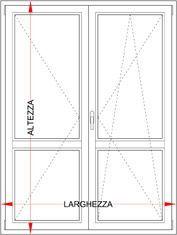 Preventivo portafinestra in alluminio taglio termico 2 ante bologna - Altezza porta finestra ...