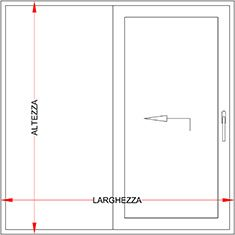 Porta e finestra alluminio fibra alluminio scorrevole for Altezza porta finestra