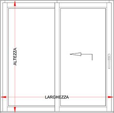 Portafinestra alluminio legno scorrevole alzante bologna for Altezza porta finestra
