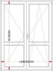 Dimensioni Porta Finestra A Due Ante.Portafinestra Pvc 2 Ante Con Ribalta Bologna