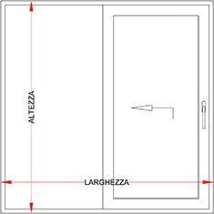 Infisso scorrevole alzante alluminio fibra legno bologna - Larghezza porta finestra ...