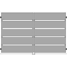 Listino prezzi cancelli in ferro battuto for Cancello scorrevole moderno