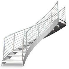 Scala in acciaio elicoidale con gradini in legno bologna for Gradini in legno massello prezzo